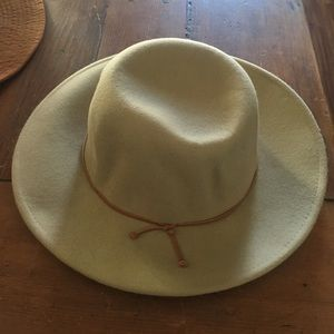 Ivory western dome hat